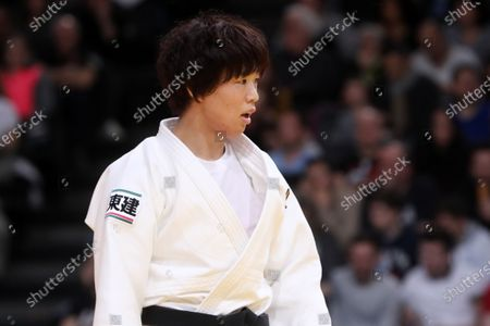 Yoko Ono of Japan reacts during the -70kg Women's Round 3 at the Paris Grand Slam judo tournament, in Paris, France, 09 February 2020.