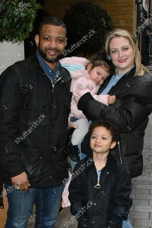 Jonathan Gill and Chloe Tangney with children Ace Jeremiah and Chiara Sapphire