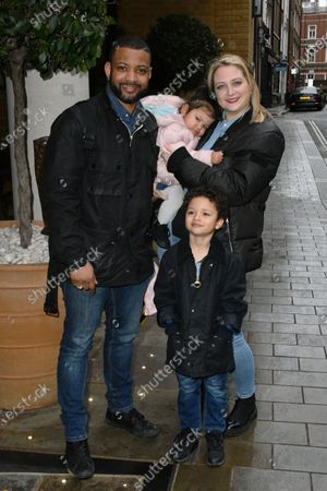 Stock Image of Jonathan Gill and Chloe Tangney with children Ace Jeremiah and Chiara Sapphire