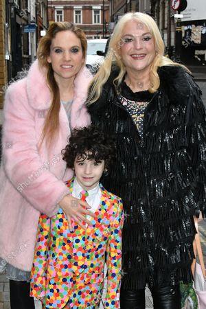 Stock Picture of Vanessa Felz with her daughter Allegra Kurer and grandson Zeke