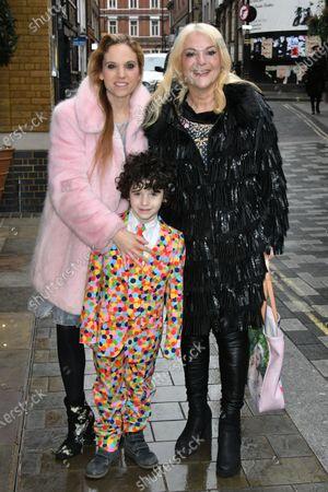 Vanessa Felz with her daughter Allegra Kurer and grandson Zeke