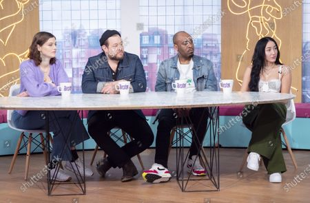 Stock Photo of Amber Anderson, Nathaniel Rateliff, Dane Baptiste and Noah Cyrus
