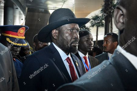 South Sudan's President Salva Kiir arrives for the opening session of the 33rd African Union (AU) Summit at the AU headquarters in Addis Ababa, Ethiopia . Topics on the table for discussion included the situations in Libya and Sudan, as well as President Donald Trump's Middle East initiative