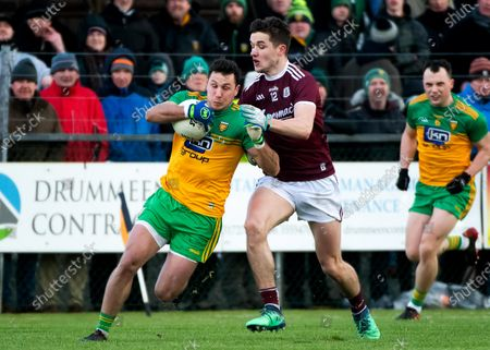 Donegal vs Galway. Donegal's Paul Brennan and Galway's Michael Daly