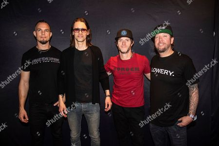 Mark Tremonti, Myles Kennedy, Brian Marshall, Scott Phillips. Mark Tremonti, from left, Myles Kennedy, Brian Marshall and Scott Phillips of Alter Bridge are seen on board the Carnival Valor during day five of the ShipRocked cruise on