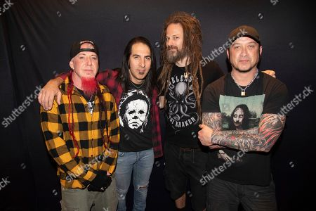 Chad Gray, Christian Brady, Kyle Sanders, Tom Maxwell. Chad Gray, from left, Christian Brady, Kyle Sanders and Tom Maxwell of Hell Year are seen on board the Carnival Valor during day five of the ShipRocked cruise on
