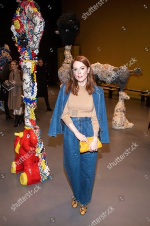 Julianne Moore attends the Tory Burch fashion show at Sotheby's during NYFW Fall/Winter 2020 on in New York