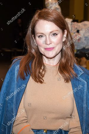 Stock Picture of Julianne Moore attends the Tory Burch fashion show at Sotheby's during NYFW Fall/Winter 2020 on in New York