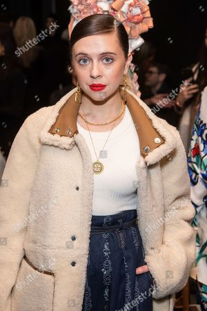 Stock Photo of Bel Powley attends the Tory Burch fashion show at Sotheby's during NYFW Fall/Winter 2020 on in New York