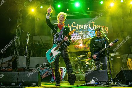 Ben Wells, Chris Robertson. Ben Wells, left, and Chris Robertson of Black Stone Cherry are seen on board the Carnival Valor during day three of the ShipRocked cruise on