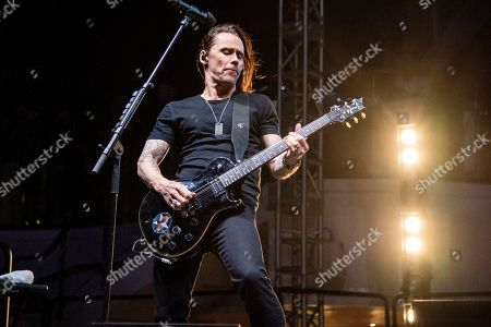 Myles Kennedy of Alter Bridge is seen on board the Carnival Valor during day three of the ShipRocked cruise on