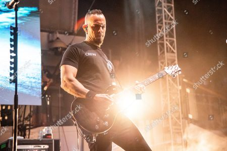 Mark Tremonti of Alter Bridge is seen on board the Carnival Valor during day three of the ShipRocked cruise on