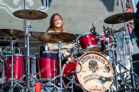 Jeff Fabb of The Stowaways is seen on board the Carnival Valor during day three of the ShipRocked cruise on