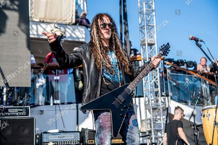 Randy Weitzel of The Stowaways is seen on board the Carnival Valor during day three of the ShipRocked cruise on