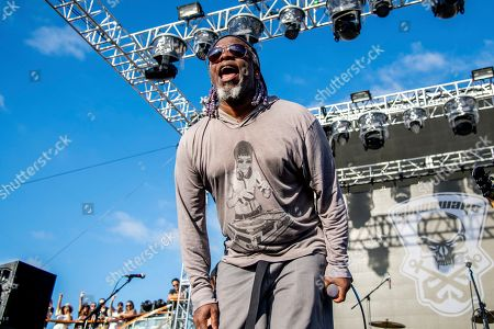 Corey Glover of The Stowaways is seen on board the Carnival Valor during day three of the ShipRocked cruise on