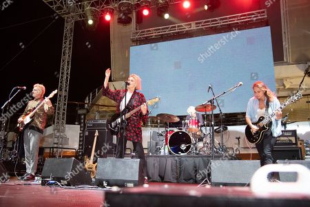 Ryan Blohm, Emily Armstrong, Sean Friday, Siouxsie Medley. Ryan Blohm, from left, Emily Armstrong, Sean Friday, and Siouxsie Medley of Dead Sara are seen on board the Carnival Valor during day three of the ShipRocked cruise on