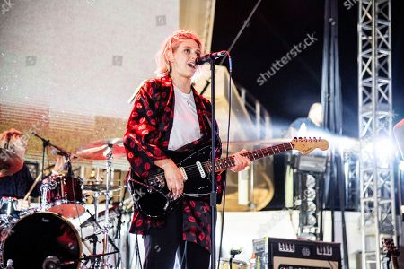 Emily Armstrong of Dead Sara is seen on board the Carnival Valor during day three of the ShipRocked cruise on