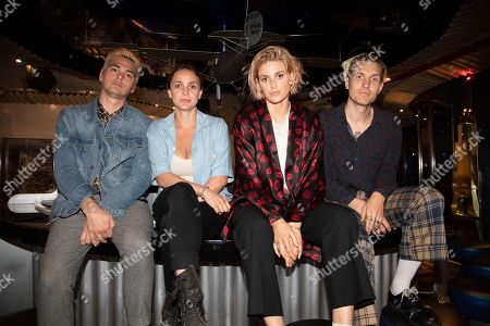 Stock Photo of Ryan Blohm, Siouxsie Medley, Emily Armstrong, Sean Friday. Ryan Blohm, from left, Siouxsie Medley, Emily Armstrong and Sean Friday of Dead Sara are seen on board the Carnival Valor during day three of the ShipRocked cruise on
