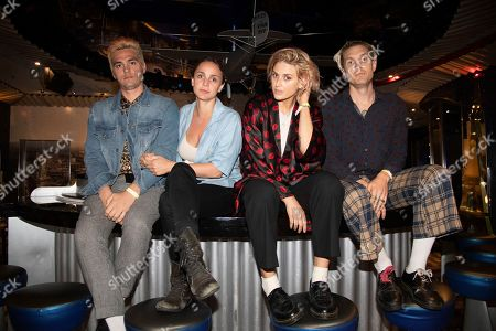 Stock Picture of Ryan Blohm, Siouxsie Medley, Emily Armstrong, Sean Friday. Ryan Blohm, from left, Siouxsie Medley, Emily Armstrong and Sean Friday of Dead Sara are seen on board the Carnival Valor during day three of the ShipRocked cruise on