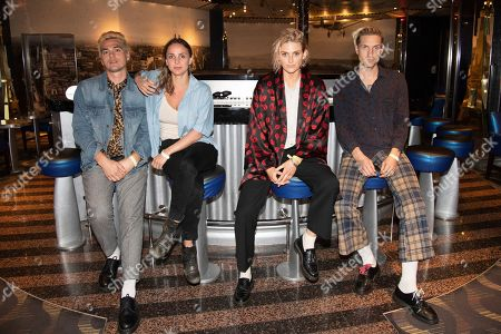 Ryan Blohm, Siouxsie Medley, Emily Armstrong, Sean Friday. Ryan Blohm, from left, Siouxsie Medley, Emily Armstrong and Sean Friday of Dead Sara are seen on board the Carnival Valor during day three of the ShipRocked cruise on