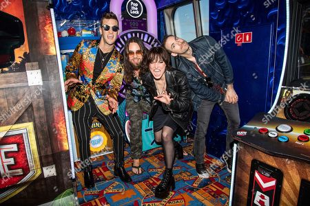 Arejay Hale, Joe Hottinger, Lzzy Hale, Josh Smith. Arejay Hale, from left, Joe Hottinger, Lzzy Hale and Josh Smith of Halestorm are seen on board the Carnival Valor during day two of the ShipRocked cruise on