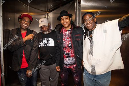 Stock Photo of Vernon Reid, Corey Glover, Doug Wimbish, Will Calhoun. Vernon Reid, from left, Corey Glover, Doug Wimbish and Will Calhoun of Living Colour are seen on board the Carnival Valor during day two of the ShipRocked cruise on
