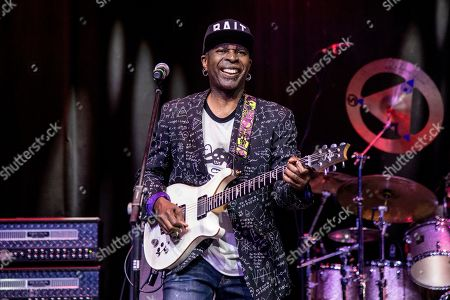 Stock Image of Vernon Reid of Living Colour is seen on board the Carnival Valor during day one of the ShipRocked cruise on