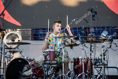 Arejay Hale of Halestorm is seen on board the Carnival Valor during day one of the ShipRocked cruise on