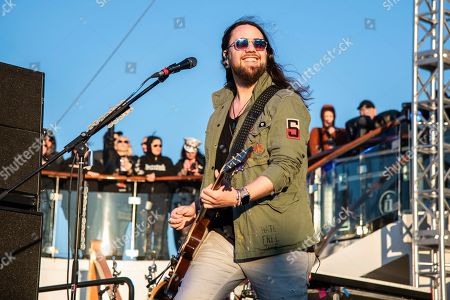 Joe Hottinger of Halestorm is seen on board the Carnival Valor during day one of the ShipRocked cruise on