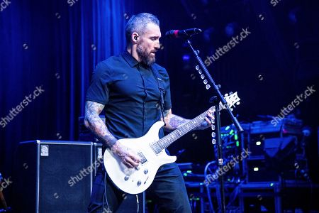 Clint Lowery is seen on board the Carnival Valor during day one of the ShipRocked cruise on