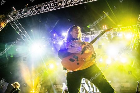 Phil Manansala of Of Mice & Men is seen on board the Carnival Valor during day one of the ShipRocked cruise on
