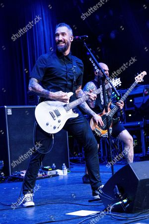 Stock Photo of Clint Lowery is seen on board the Carnival Valor during day one of the ShipRocked cruise on