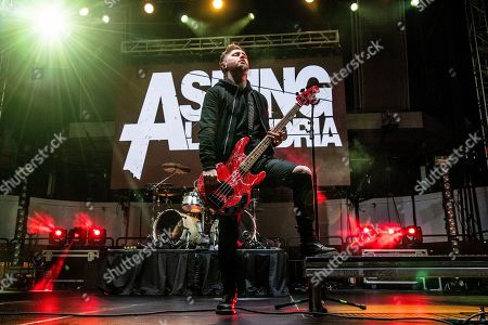 Sam Bettley of Asking Alexandria is seen on board the Carnival Valor during day one of the ShipRocked cruise on