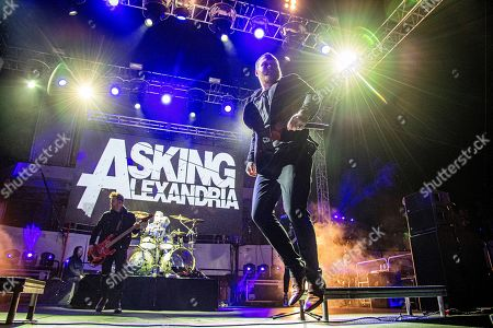 Stock Picture of Danny Worsnop of Asking Alexandria is seen on board the Carnival Valor during day one of the ShipRocked cruise on
