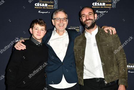 Stock Image of Anthony Bajon, Christophe Rossignon and Edouard Bergeon