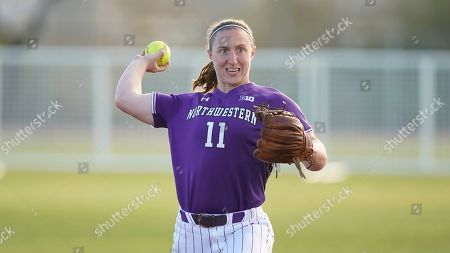 Stock Image of Northwestern Rachel Lewis (11) during an NCAA softball game against Portland State, in Tempe, Ariz