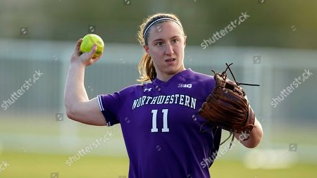 Stock Picture of Northwestern Rachel Lewis (11) during an NCAA softball game against Portland State, in Tempe, Ariz