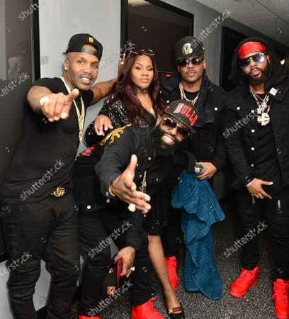 Jagged Edge and Kelly Price backstage