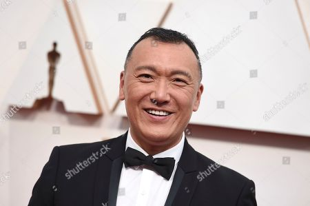Joe Zee arrives at the Oscars, at the Dolby Theatre in Los Angeles