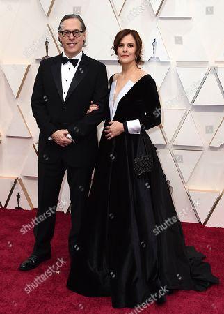 Stock Image of Rodrigo Prieto, Monica Prieto. Rodrigo Prieto, left, and Monica Prieto arrive at the Oscars, at the Dolby Theatre in Los Angeles