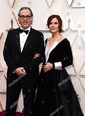 Stock Photo of Rodrigo Prieto, Monica Prieto. Rodrigo Prieto, left, and Monica Prieto arrive at the Oscars, at the Dolby Theatre in Los Angeles