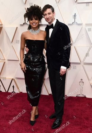 Stock Image of Zazie Beetz, David Rysdahl. Zazie Beetz, left, and David Rysdahl arrive at the Oscars, at the Dolby Theatre in Los Angeles