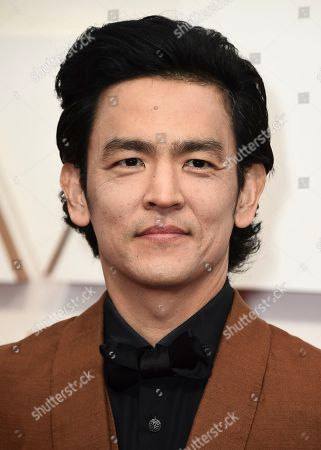 John Cho arrives at the Oscars, at the Dolby Theatre in Los Angeles