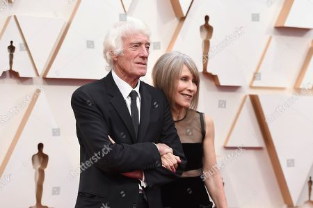 Stock Photo of Roger Deakins, Isabella James Purefoy Ellis. Roger Deakins, left, and Isabella James Purefoy Ellis arrive at the Oscars, at the Dolby Theatre in Los Angeles