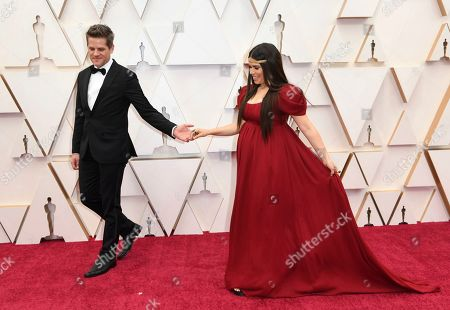 Stock Picture of Ryan Piers Williams, America Ferrera. Ryan Piers Williams, left, and America Ferrera arrive at the Oscars, at the Dolby Theatre in Los Angeles