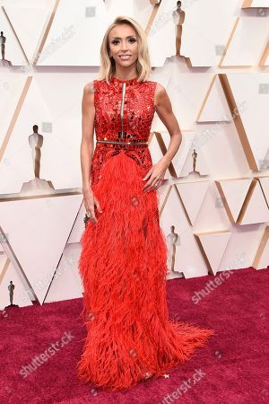 Giuliana Rancic arrives at the Oscars, at the Dolby Theatre in Los Angeles