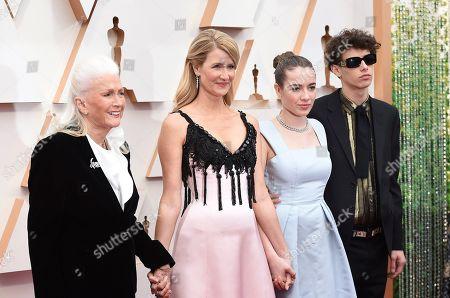Diane Ladd, Laura Dern, Jaya Harper, Ellery Harper. Diane Ladd, from left, Laura Dern, Jaya Harper, and Ellery Harper arrive at the Oscars, at the Dolby Theatre in Los Angeles