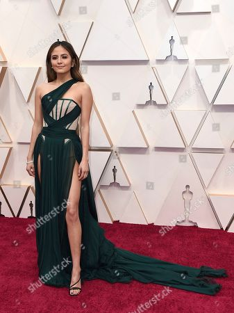 Erin Lim arrives at the Oscars, at the Dolby Theatre in Los Angeles