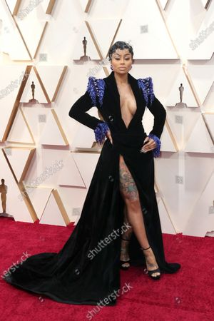 Blac Chyna arrives for the 92nd annual Academy Awards ceremony at the Dolby Theatre in Hollywood, California, USA, 09 February 2020. The Oscars are presented for outstanding individual or collective efforts in filmmaking in 24 categories.