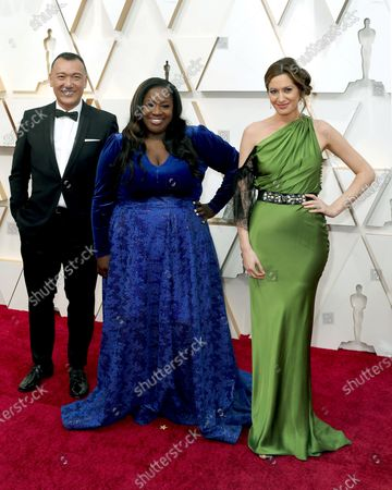 Stock Photo of Joe Zee, Kelley L. Carter, and Elizabeth Wagmeister arrive for the 92nd annual Academy Awards ceremony at the Dolby Theatre in Hollywood, California, USA, 09 February 2020. The Oscars are presented for outstanding individual or collective efforts in filmmaking in 24 categories.